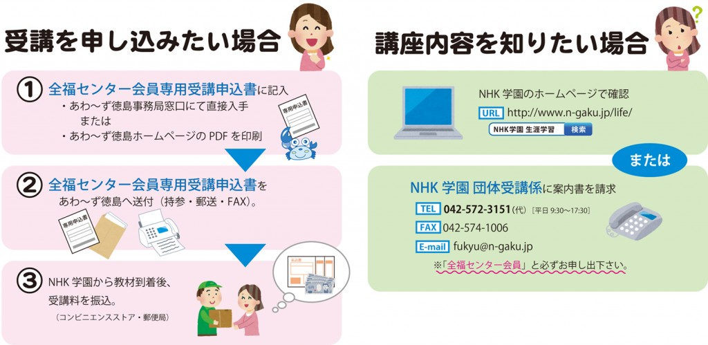 NHK学園 生涯学習通信講座 受講料割引特典特典のご利用方法に ...
